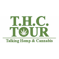 THC Tour Talking Hemp and Cannabis Logo Industrial Hemp Booth at Answers to Energy Spring Expo in Oshkosh