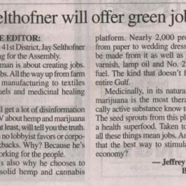 Selthofner will offer green jobs