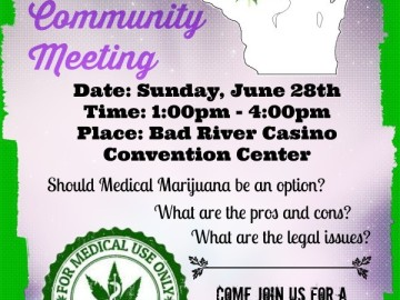 Medical Cannabis Meeting at Bad River Casino