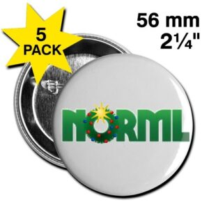 NORML Holiday Weed Wreath Button