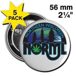 Northern Wisconsin NORML Large Buttons