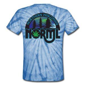 Tie Dye Northern Wisconsin NORML Logo Tshirt