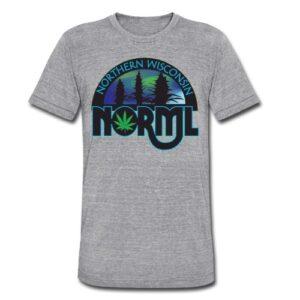 Unisex Tri-Blend Logo T-Shirt by American Apparel