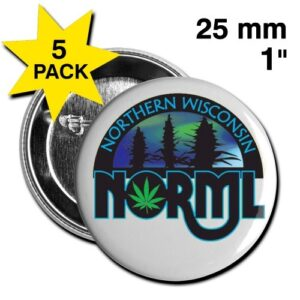 "Wisconsin NORML 1"" Small Button"
