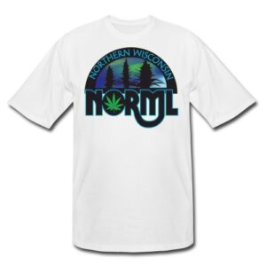 XL, 2XL and 3XL Northern Wisconsin NORML Logo Tshirt