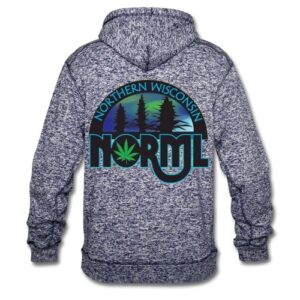 Northern Wisconsin NORML Mens Speckled Hoodie