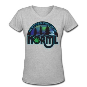 Northern WI NORML V-Neck Womens Members Tee
