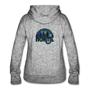 Northern Wisconsin NORML Womens Speckled Hoodie with Chapter Logo