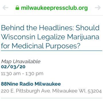 Milwaukee Press Club Marijuana Forum Planned for Feb 3, 2020